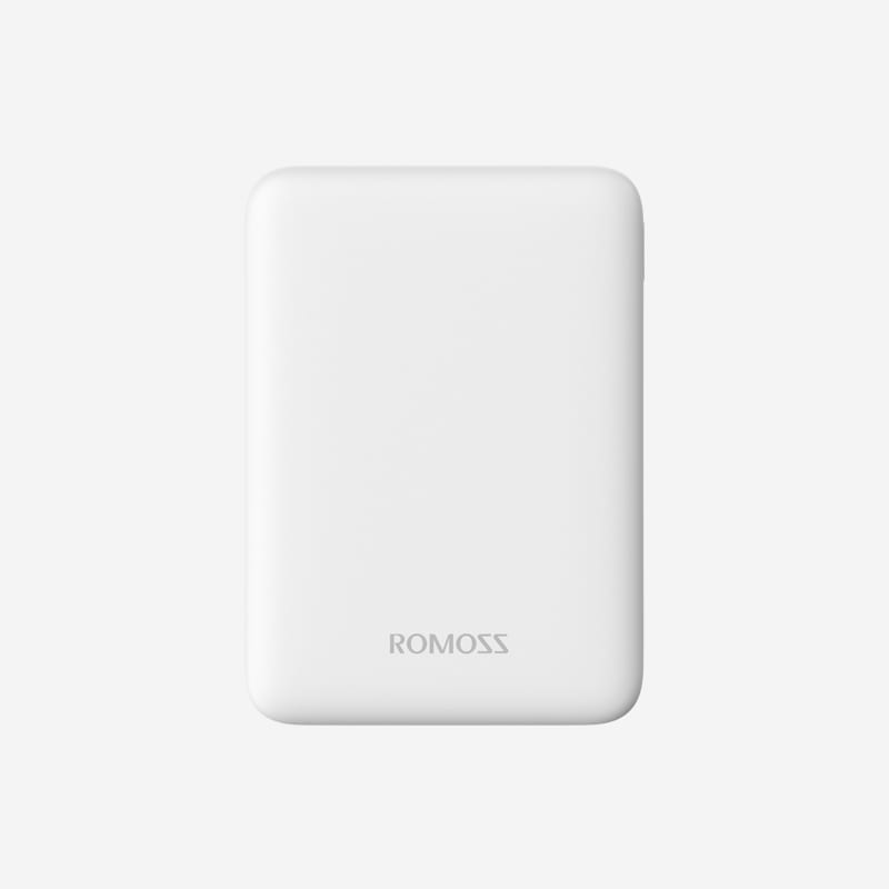 Romoss Pure 5 5000mAh Input: Micro USB|Output: 2 x USB Power Bank - White - Platinum Selection