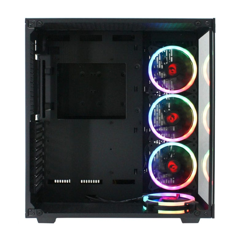 REDRAGON WIDELOAD RGB TEMPERED GLASS FRONT/SIDE|3XRGB FAN|ATX|MICRO ATX|MINI ITX|EATX|390MM GPU BLACK - Platinum Selection