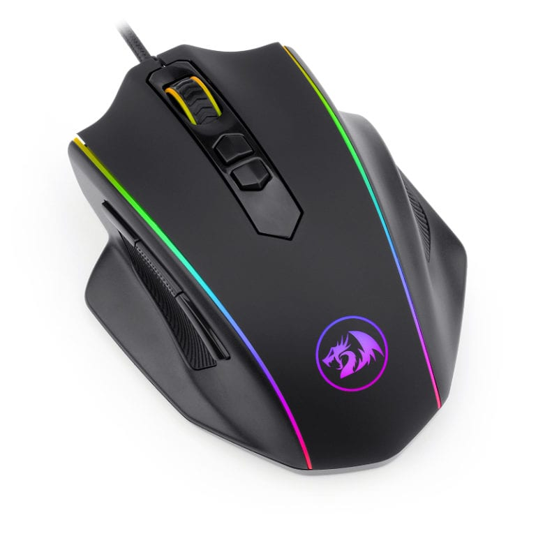 REDRAGON VAMPIRE 10000DPI RGB GAMING MOUSE – BLACK - Platinum Selection