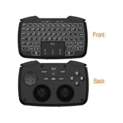 RII 2IN1 WIRELESS GAMEPAD WITH TOUCHPAD|QWERTY KEYBOARD|2 X ANALOGUE STICKS|BUMPERS & TRIGGERS|D-PAD|BACKLIGHTING – BLACK - Platinum Selection