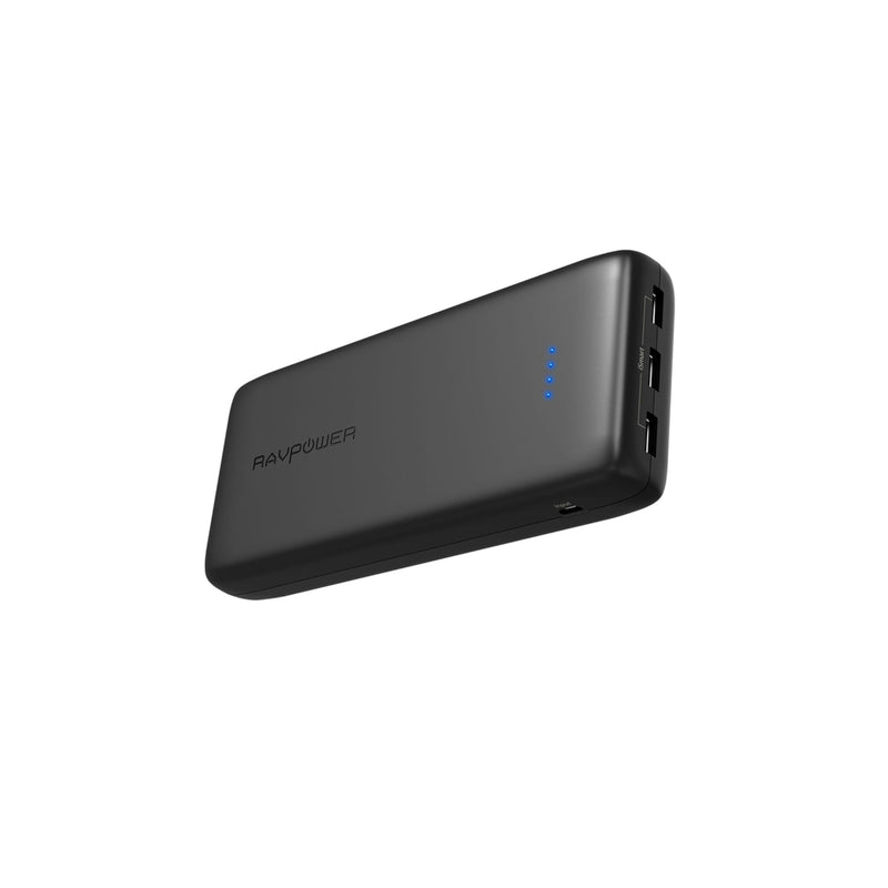 RAVPOWER 32000mAh 3x USB 6A output Power Bank - Black