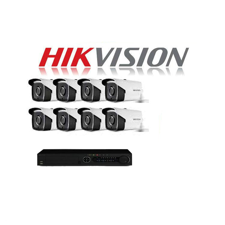 HikVision 8 Ch Turbo HD Kit - Embedded DVR - 8 x HD1080P Camera - 80M Night vision - 1TB HD - 100m Cable - Platinum Selection