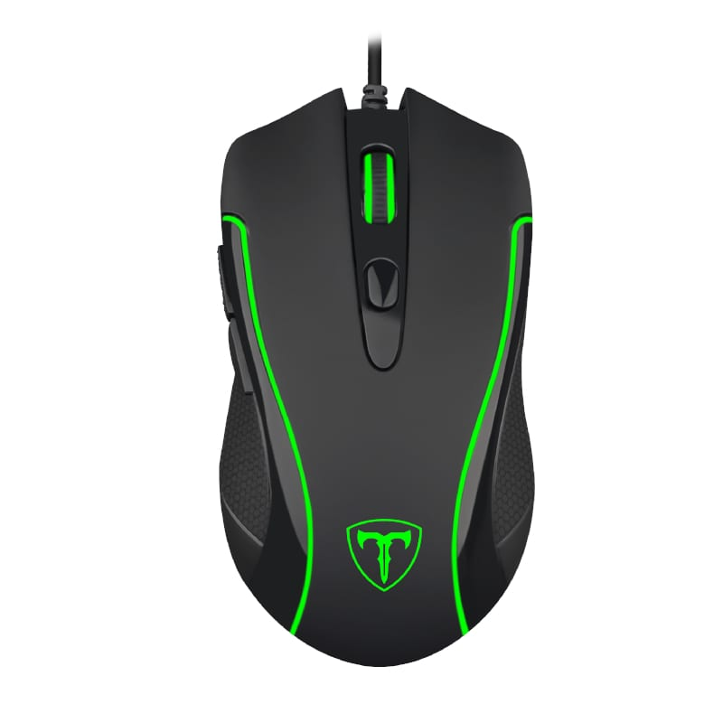 T-Dagger Private 3200DPI 6 Button|180cm Cable|Ergo-Design|RGB Backlit Gaming Mouse - Black - Platinum Selection