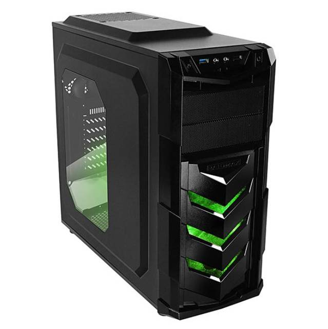 Raidmax Vortex V4 Window (GPU 390mm) ATX Gaming Chassis Black and Green - Platinum Selection