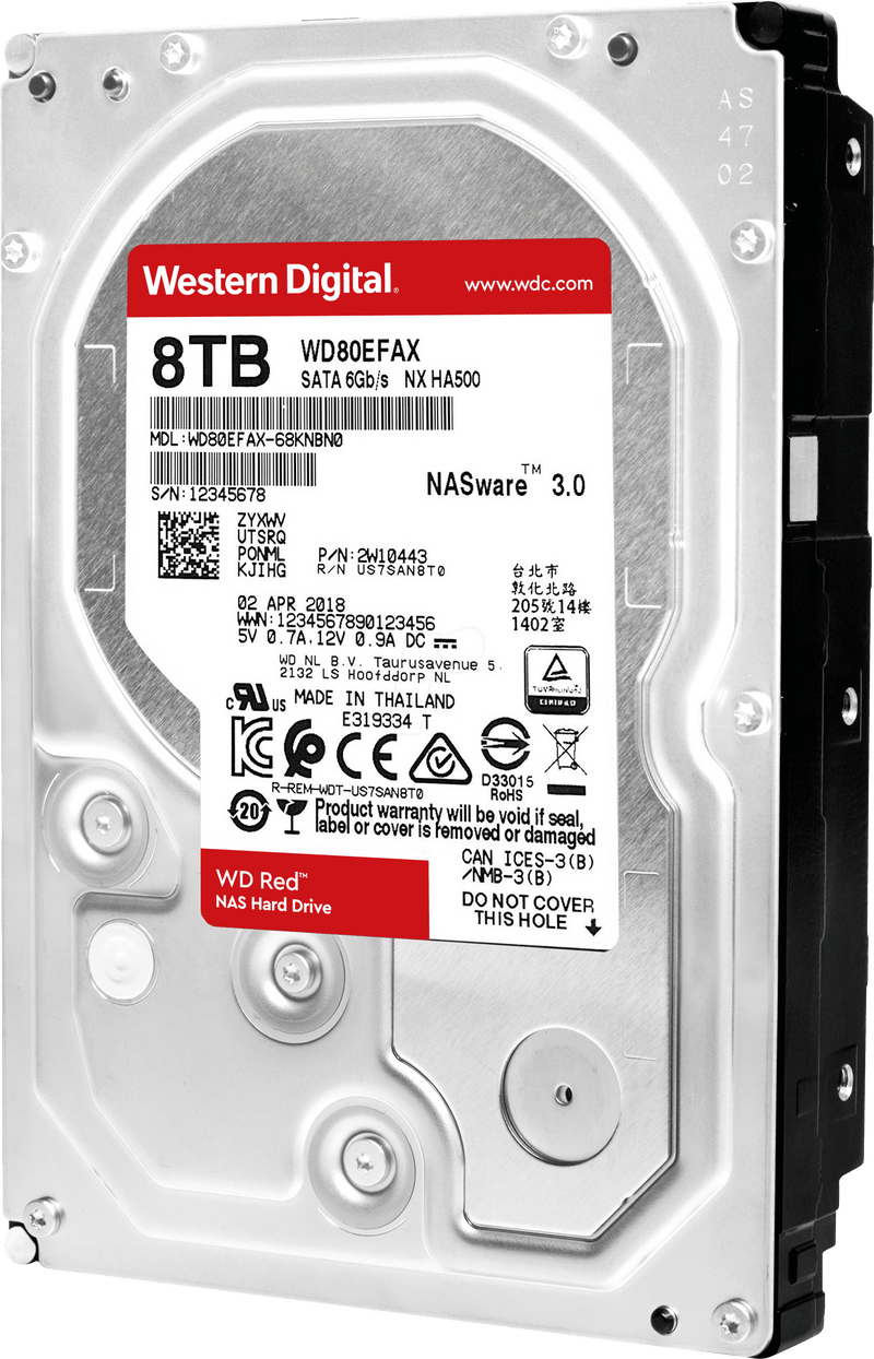 WD Red 8TB 3.5 SATA 256MB - Platinum Selection