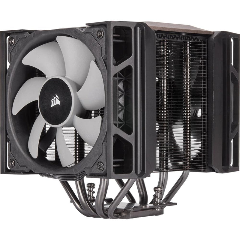 Corsair A500 Dual Fan CPU Cooler / Slide-and-Lock Fan Mount / Dual ML120 PWM Fans / Magnetic Levitation Fans / Efficient Heat Transfer / ECT-9010003-WW