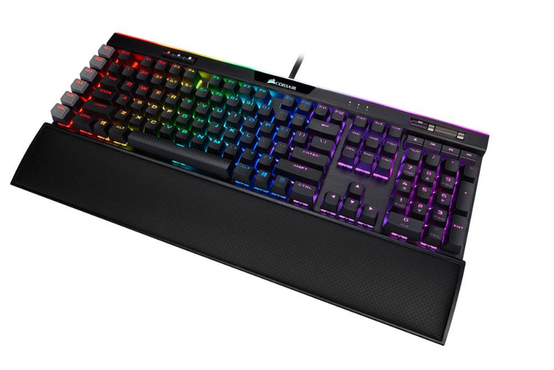 Corsair K95 RGB PLATINUM XT Mechanical Gaming Keyboard - Cherry MX Speed / Palm Rest / RGB Backlighting / Aluminum Frame / USB Pass-Through Port / CORSAIR iCUE / Anti-Ghosting / CH-9127414 - Platinum Selection
