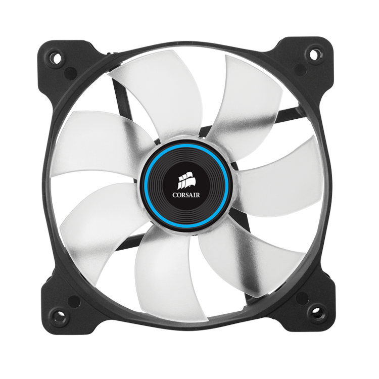 Corsair Air Series SP120 LED Blue High Static Pressure 120mm Fan Twin Pack - Platinum Selection