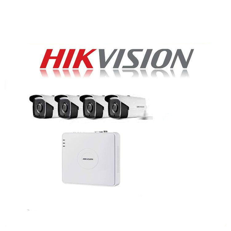 HikVision 8 Ch Turbo HD Kit - Embedded DVR - 4 x HD1080P Camera - 40M Night vision - 500GB HD - 100m Cable - Platinum Selection