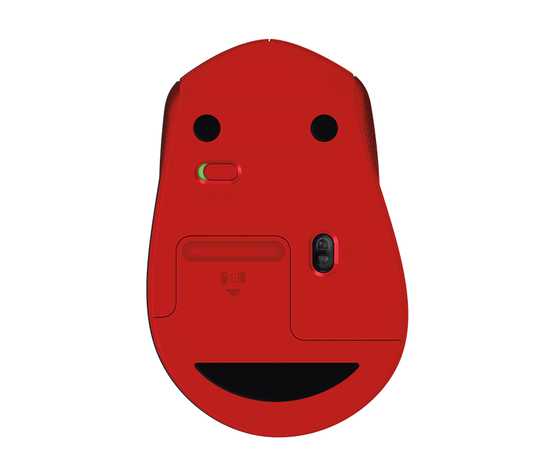 Logitech M330 Silent Plus Wireless Mouse (Red)