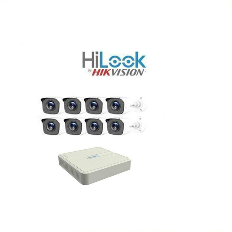 HiLook by Hikvision 8ch Turbo HD kit - DVR - 8 x HD720P Camera - 20M Night vision - 500GB HD - 100m Cable - Platinum Selection