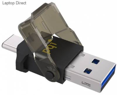 PQi Connect312 Flash Drive type micro-reader for miCroSDHC/SDXC, with USB 3.1 (type-A + type-C) dual connectors