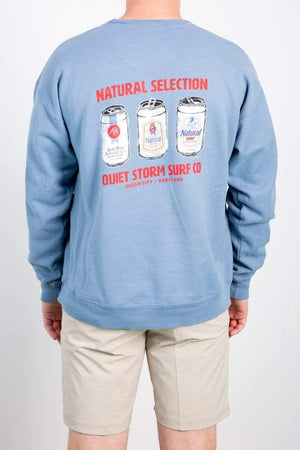 HANES QSSS SALTWATER / S Natural Selection Crew Sweatshirt