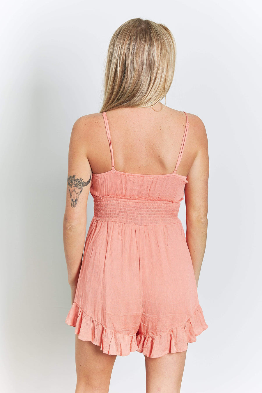 Womens ruffle detail romper - Quiet Storm Surf Shop