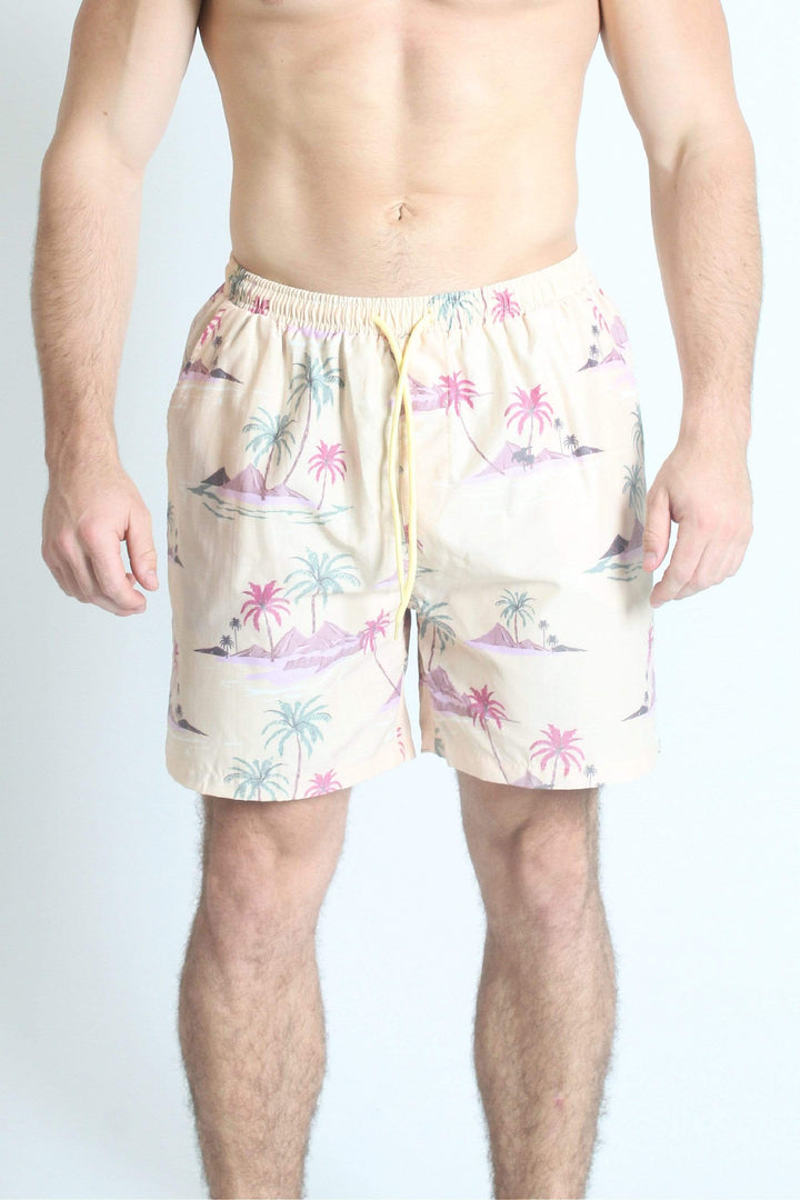 QSSS/VOLARE GEN-Men's YELLOW / S Private Island Volley Shorts