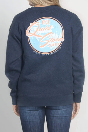 QUIET STORM - KINGWAYS FLEECE GEN-Men's ABYSS / XS Beach Day Crew Fleece