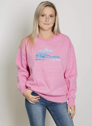 Ombre wave crewneck fleece - Quiet Storm Surf Shop