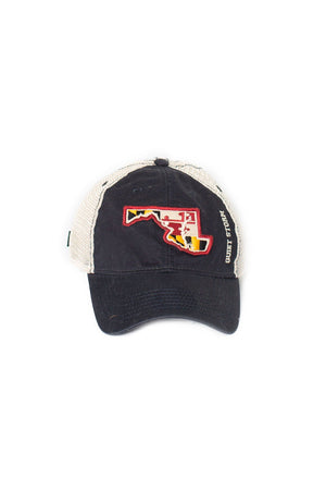 Quiet Storm Navy Md Outline Trucker Hat - Quiet Storm Surf Shop