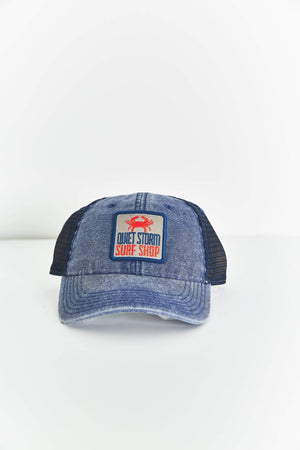QUIET STORM/LEGACY ATHLETIC Mens Quiet Storm Square Crab Patch Navy Hat