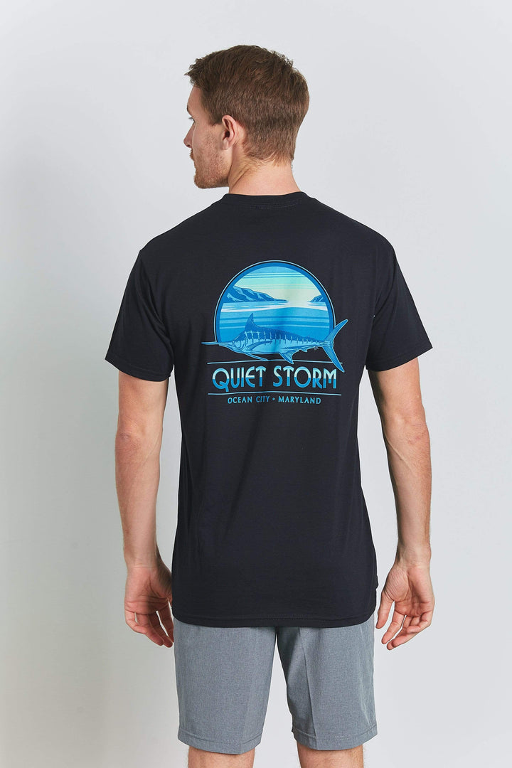 Marlin Scene Heather Short Sleeve Tee - Quiet Storm Surf Shop