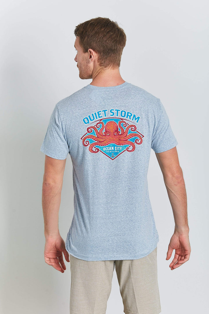 Multi Colored Octopus Short Sleeve Tee - Quiet Storm Surf Shop