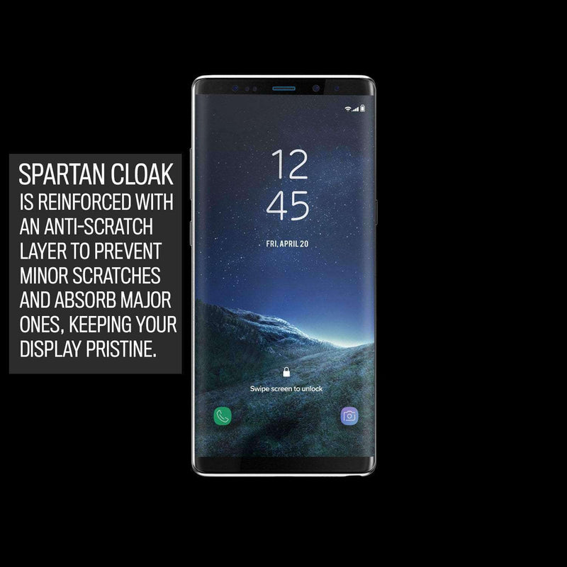 Spartan Cloak Strengthened Film Screen Protector for Samsung Galaxy Note 8 - Hephaestus UK