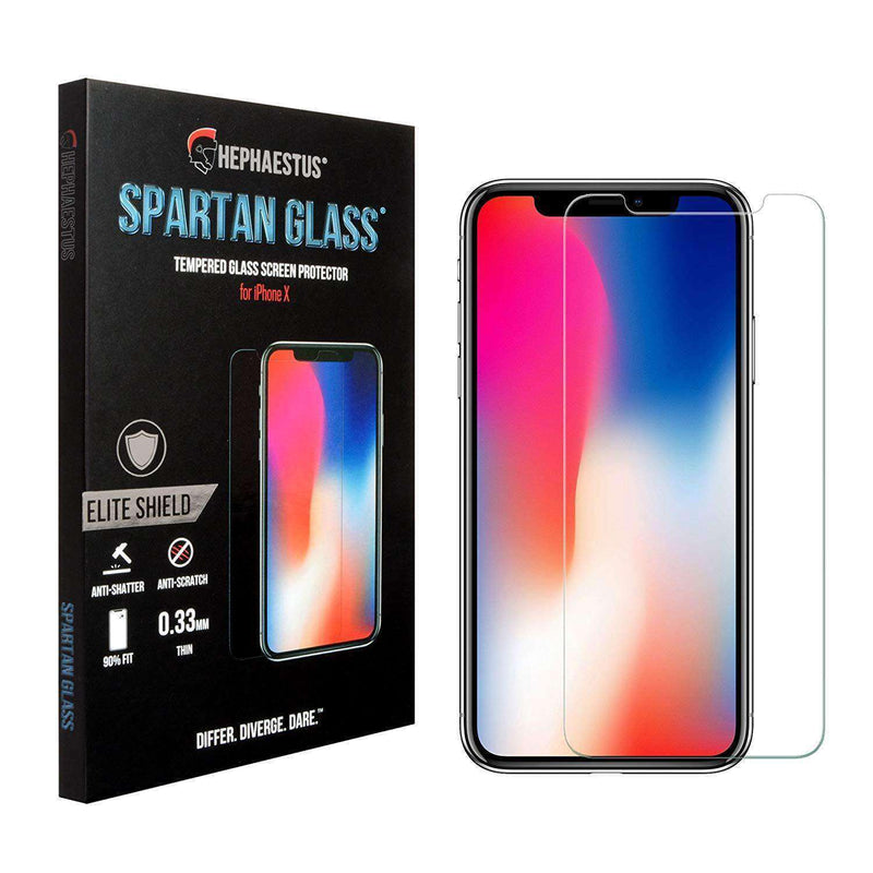 Spartan Glass 9H Tempered Glass Screen Protector for iPhone X - Hephaestus UK