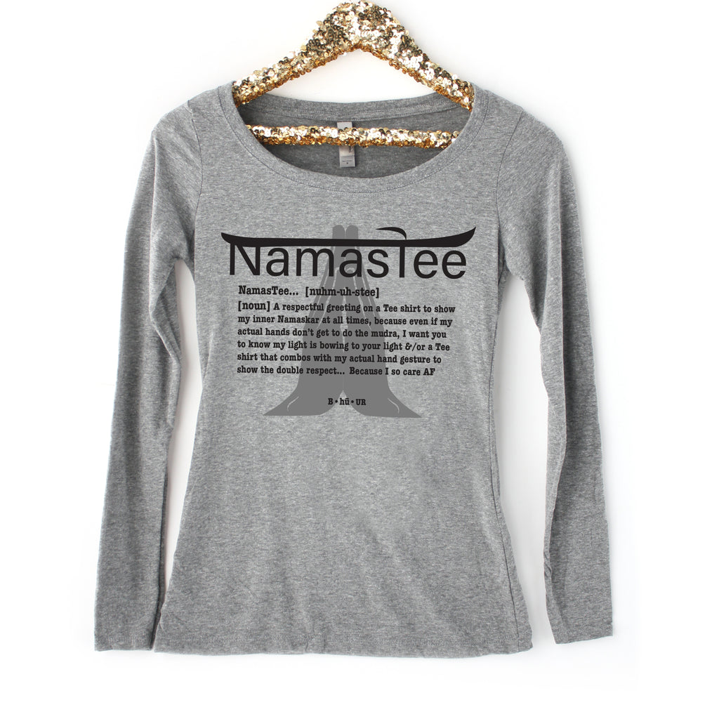 Welcome Fall! A Long sleeve Namastee is in the store!