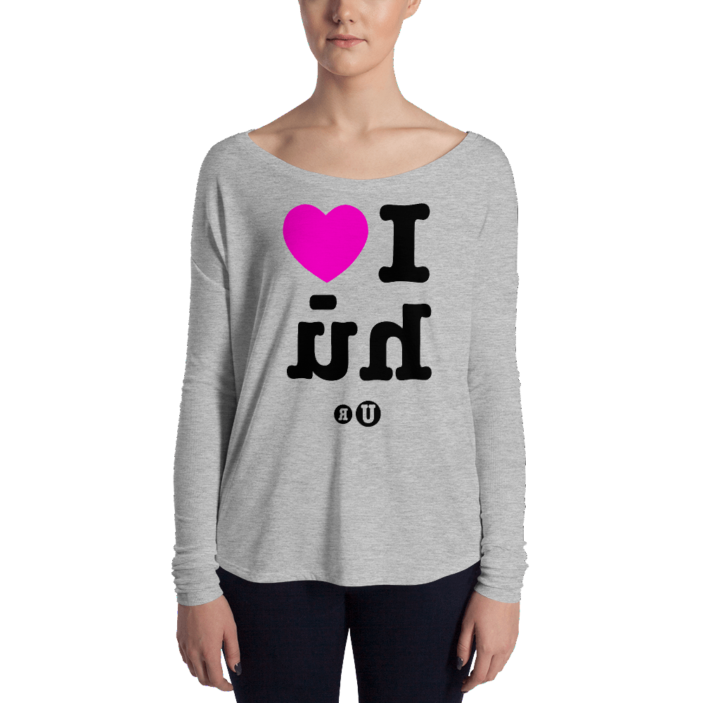 Magic Mirror Ladies' Long Sleeve Tee-BehuUR