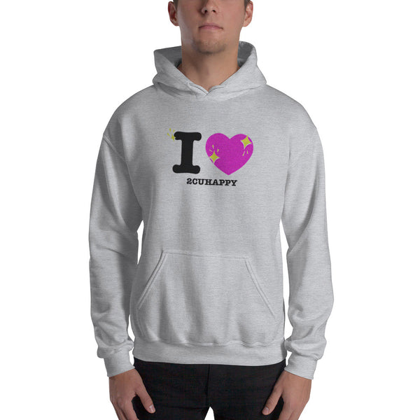 Love to see you Happy! Unisex Hooded Sweatshirt (Gray)