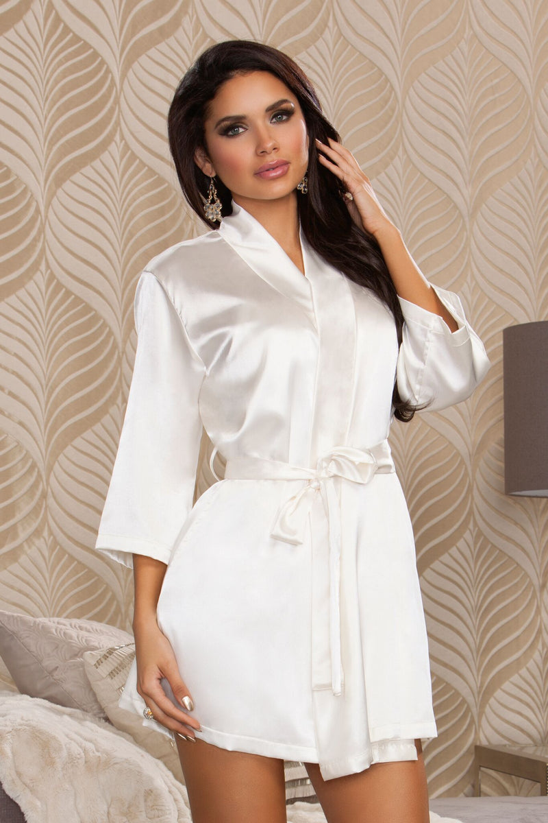 Comfort Zone Robe 3/4 Sleeve Ivory