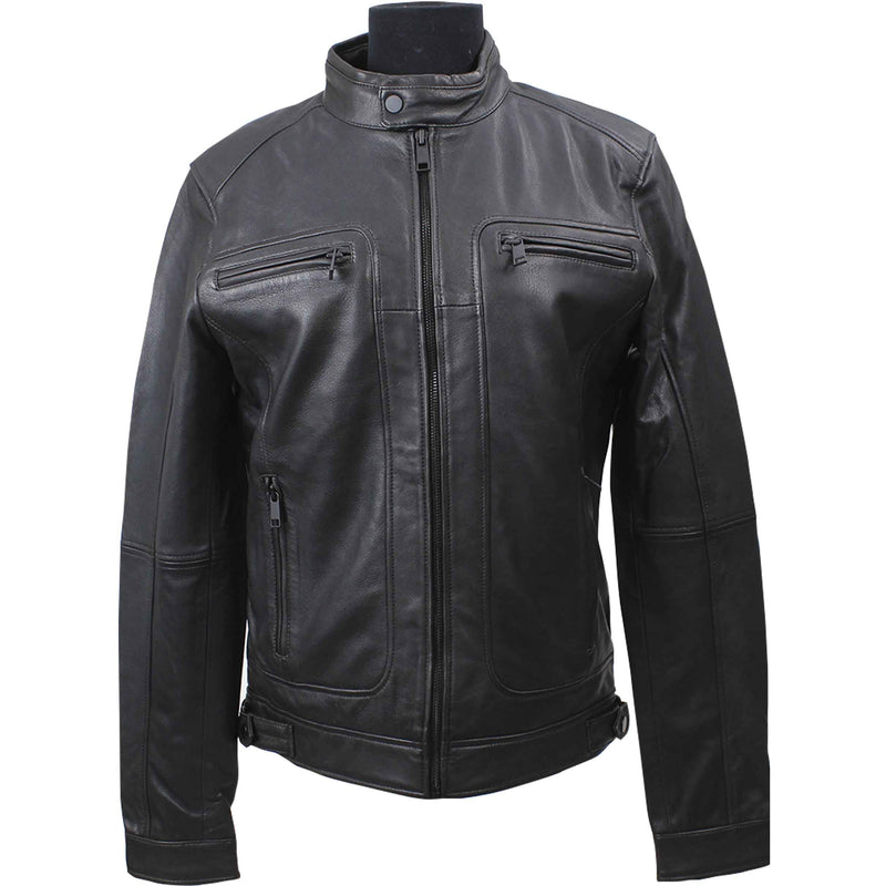 Globus Men's Collarless  Leather  Jacket 1043