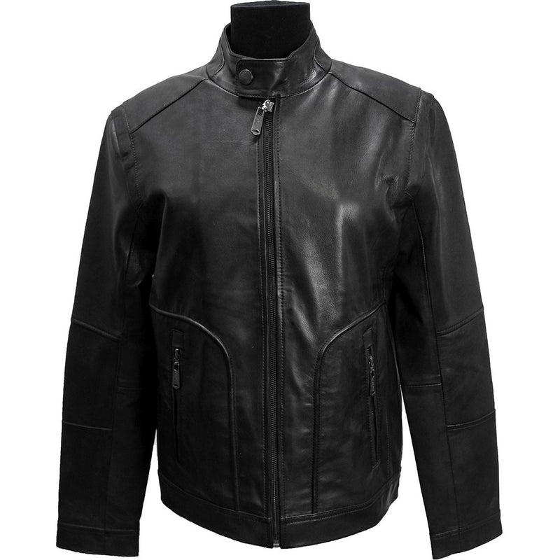Bobby Men's Leather Zip Jacket