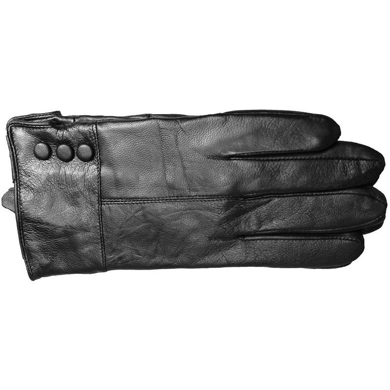 Rendezvous Leather Button Gloves HHGLW005