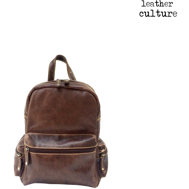 LEATHER CULTURE' VINTAGE LEATHER BACKPACK V138 -NEW