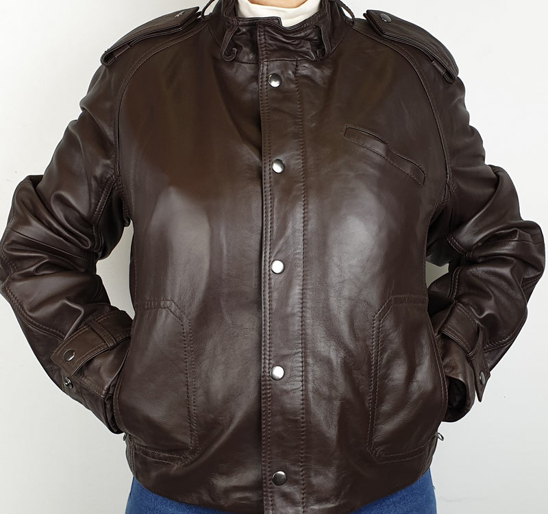 Women's Leather Zip Jacket TT108