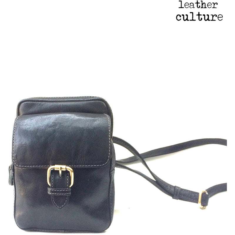 LEATHER CULTURE' VINTAGE LEATHER CROSSBODY BAG V121 -NEW