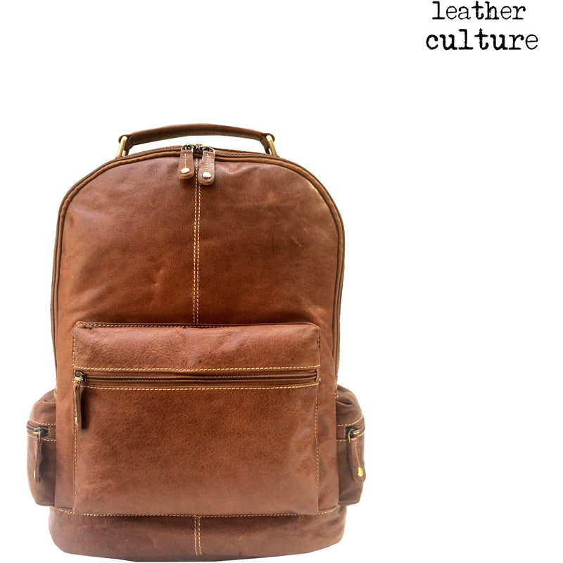 LEATHER CULTURE' WAXY BUFFALO LEATHER BACKPACK WB135 -NEW