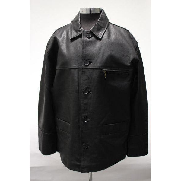 MATINEE Men's Button Leather Jacket