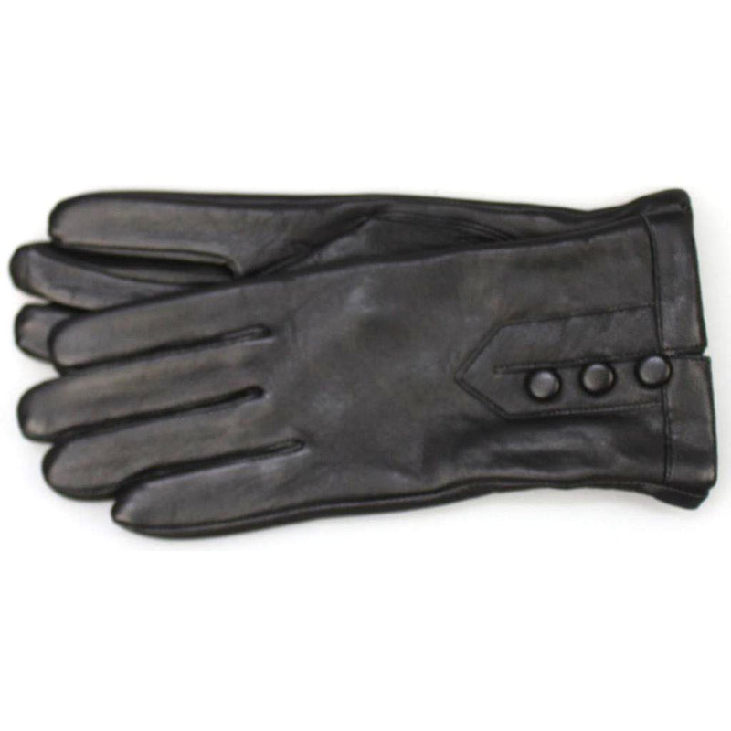 'Rendezvous' Leather Button Gloves LG012