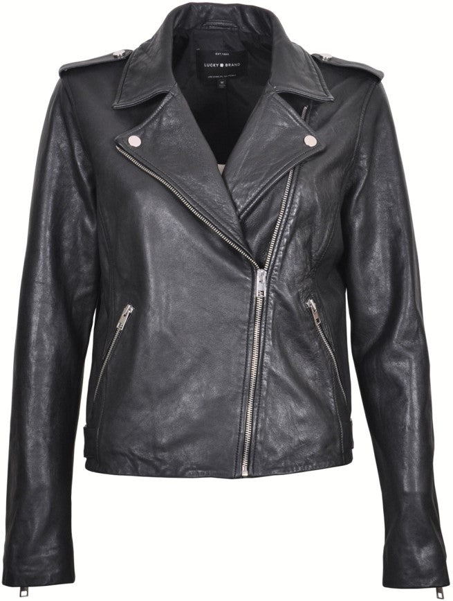 Women's Italian Leather Biker Jacket 7W3236