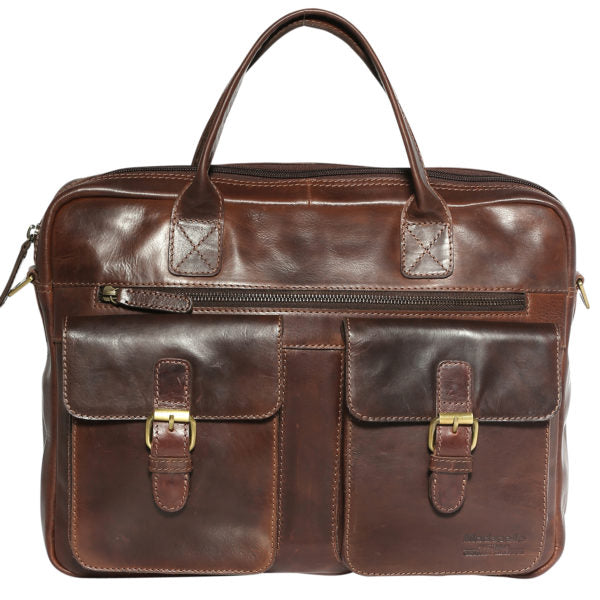 Modapelle Men's Vintage Leather Satchels 3916