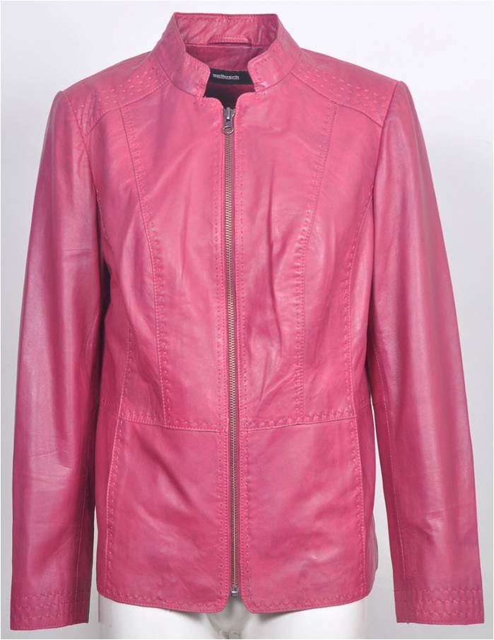 Women's Leather Zip Jacket 44-3455