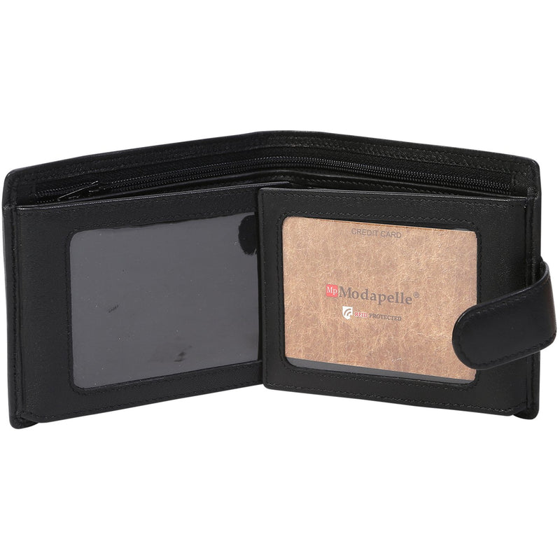 Modapelle Men's Leather Multifold Wallet 5015