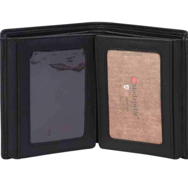 Modapelle Men's Leather Bifold Wallet 5021