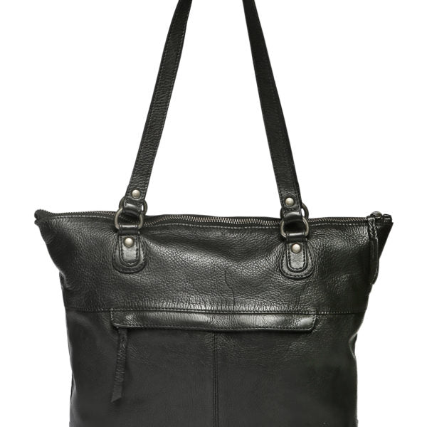 Modapelle Vintage Leather Woven Tote Bag 5909