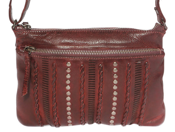 Modapelle  Woven Vintage Leather Crossbody Bag 5910