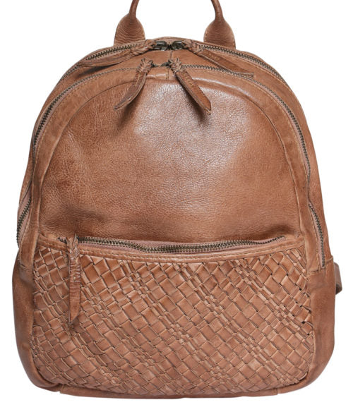 Modapelle Woven Leather Backpack  5946