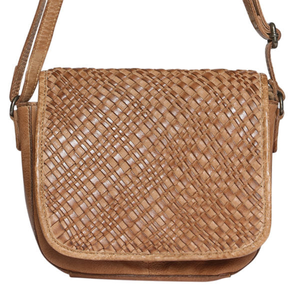 Modapelle Vintage Leather Woven Shoulder Bag 5948