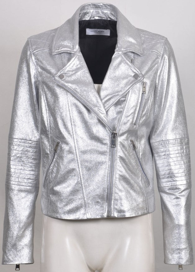 Women's Italian Leather Biker Jacket 727354